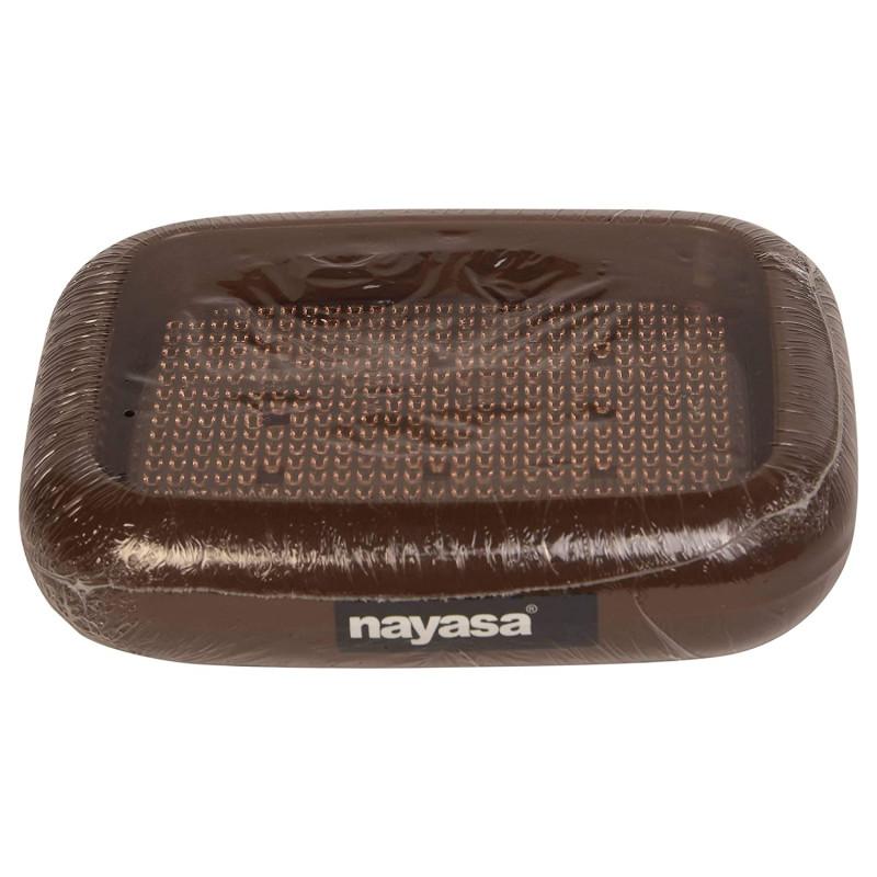 Nayasa Plastic Lumina Soap Case BrownStandard Size 2 Pcs
